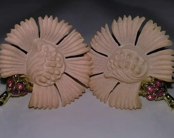Vintage deco styled celluloid earrings
