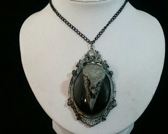 Necklace Silver Raven