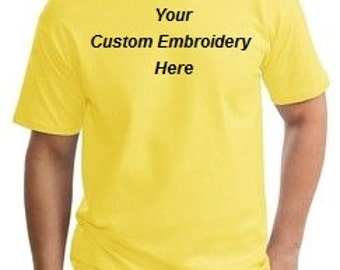 Custom Embroidered T-Shirt