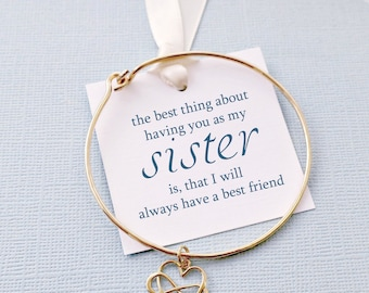 Gifts for Sister | Infinity Bracelet, Bangle Cuff Bracelet, Sister Bracelet, Best Friend Bracelet, Friendship Bracelet, Big Sister | S05