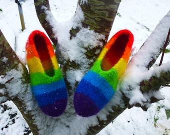 Rainbow Felt shoes gr. 29/30