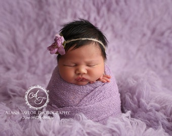 Lilac RTS Stretchy Soft Newborn Knit Wraps 80 colors to choose from, photography prop newborn prop wrap