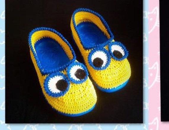 minion crochet slipper pattern crochet minion shoe