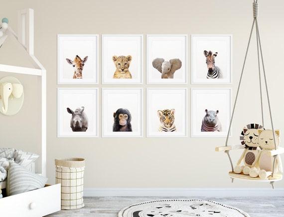 Safari Nursery Decor Safari Animal Prints Baby Animals Set