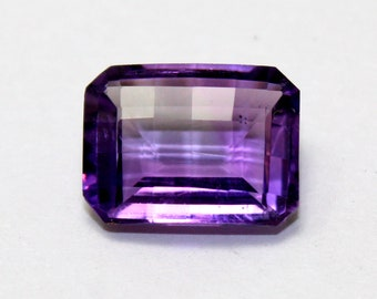 11Cts Natural Amethyst Octagon Shape Faceted Gemstone 12x16MM