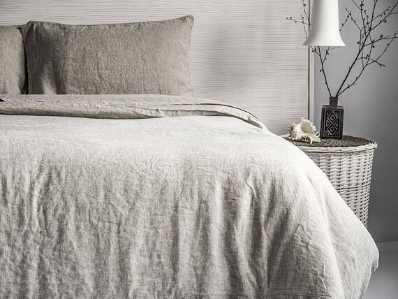Linen Duvet Cover Stone Washed Super Soft Or 3pc Sets Seamless