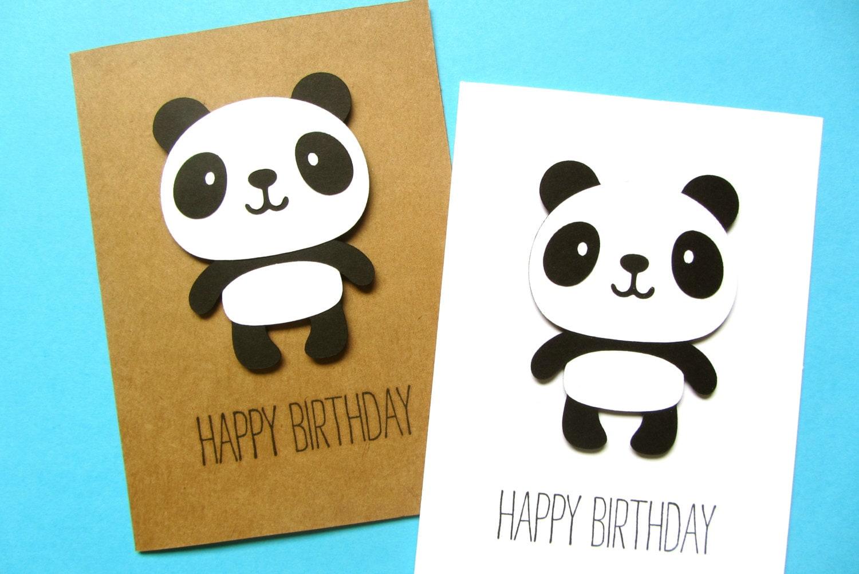 Panda birthday card cute birthday kid birthday kawaii zoom bookmarktalkfo Choice Image