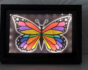 Butterfly Night Light (Small Rainbow)