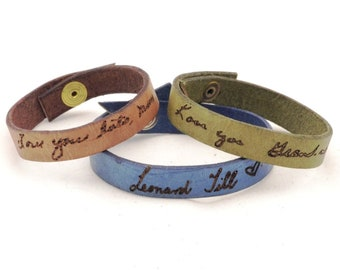 FATHERS DAY GIFT custom signature bracelet, memorial jewelry, handwriting bracelet, memorial gift, handwriting jewelry, childrens artwork, s