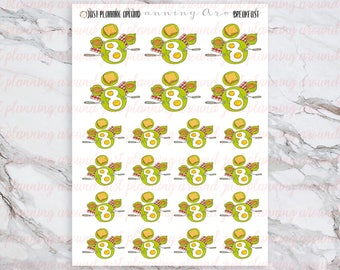 Breakfast Stickers, Food Stickers, for use with  Erin Condren, Happy Planner