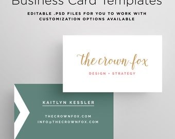 Business Card Template, Printable Design Business Card, Customizable Business Card Template, Custom Business Card, PSD Template, Photoshop