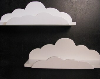Set of 3 DREAMY CLOUD SHELVES - Children's & Nursery Decor, Kids' Shelves