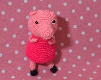 Crochet Pepa Pig / handmade Pepa Pig/ amigurumi /amigurumi Pepa Pig