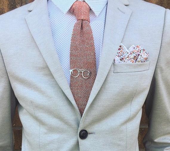 Men\'s Vintage Tie Clip Glasses Necktie Tie Clip Bar Clasp