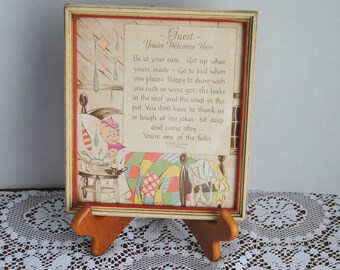 Vintage Buzza Framed Print Guest Your Welcome Here