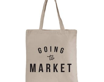 Going to Market Canvas Tote Bag