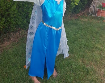 Elsa Costume with Stretch Bodice