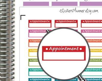 Appointment Stickers Appointment Planner Stickers for Erin Condren Planner Happy Planner Functional Planner Appointment Box Stickers (n1c)