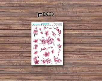 Sakura Blossom Deco Stickers | ECLP | Happy Planner | Recollections Planner