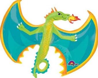 """31"""" Jumbo Dragon Balloon /dragon theme / Knights theme / medieval / kings party / dragons theme"""