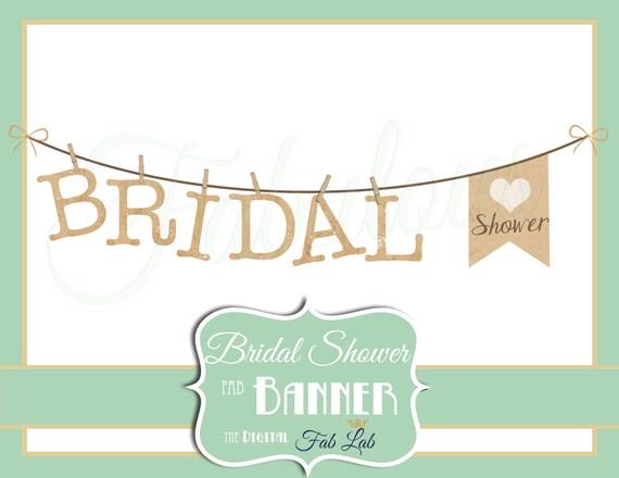 bridal shower clipart banner digital clipart rustic rh etsy com Bridal Showers Invitations Clip Arts Vintage Bridal Shower Clip Art