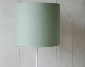 Plain green lampshade, Green decor, Plain lampshades, Solid lamp shades, small drum lampshade, mint green decor, mint nursery, light shade