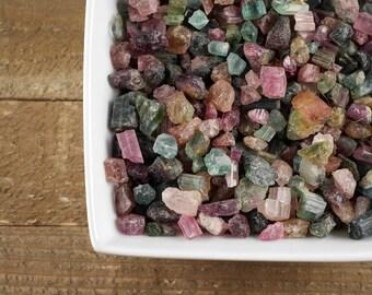 5g Mixed Raw TOURMALINE - Watermelon Tourmaline Crystal, Pink Tourmaline Rough, Green Tourmaline Stone, Tourmaline Jewelry Making E0056