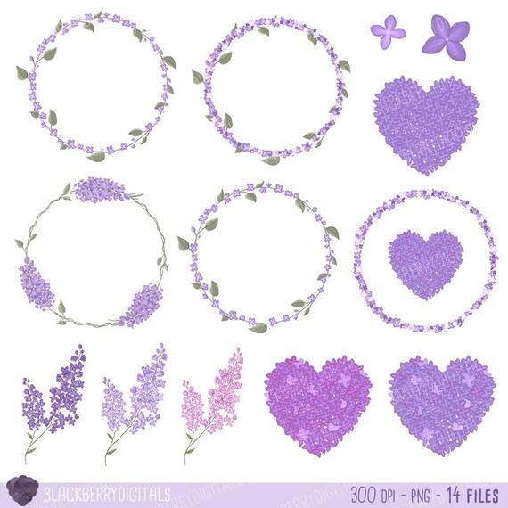 floral clipart lilac clip art valentine s day clipart wedding rh etsystudio com Lilac Border Clip Art Violet Clip Art