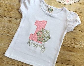 Winter Onederland Birthday Shirt