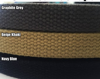 16mm Canvas Tape Heavy Duty Cotton. (1m/5m/10m) Webbing, Straps, Belts, Decoration, Craft, Bunting, Sewing, Trim Edge.