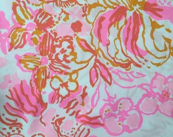 "happiness is poplin cotton fabric square 18""x18"" ~ lilly pulitzer"
