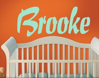 Large Name Decal, Custom Wall Decal, Baby Nursery, Girls, Teens, Toddler, Bedroom Decor, Brooke, Mint Green, Kids Playroom Decor