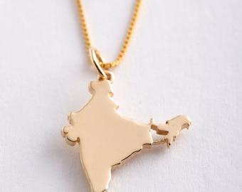 18k Gold India Pendant