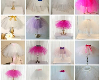 Tutu Lamp, Custom Order Lighting, Table Lamp, Lamp Shade, Bedroom Lamp, Girls Room Decor, Girls Room Lighting, Baby Nursery, Baby Room Decor