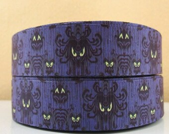 5 YDS Haunted Mansion Wallpaper Ribbon