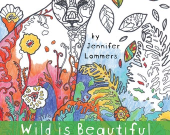 Coloring Book of Wildlife Art Digital Download by Jenlo