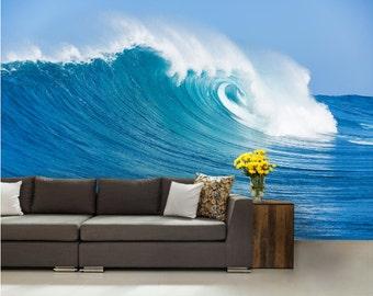 wave wall mural, 3d MURAL, sea wall mural, underwater wall mural, self-adhesive vinly, water wall mural, sun wallpaper, wave wallpaper, surf