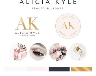 Logo Design, Branding Package, Photography Logo, Premade Logo, Business Card, Black and Gold Logo, Makeup Artist Logo, Photography Watermark