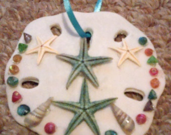Summertime-Sand dollar decorated and influenced by the beach
