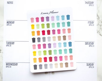 Mini Trash Can (matte planner stickers, perfect for planners)