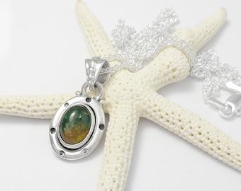 Sterling Silver Tourmaline Gemstone Pendant Necklace