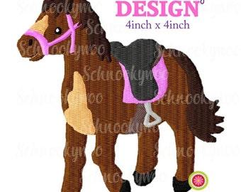 Horse Embroidery Design, Pony Embroidery Design, Embroidery Dragon Horse, Horse, Pony, Saddle, embroidery design saddle