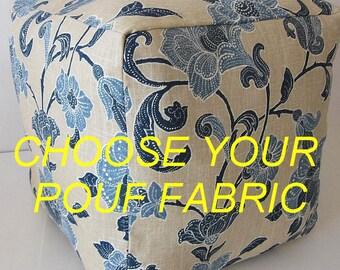 Custom Made Pouf, Custom Pouf, Custom Footstool, Round Pouf, Square Ottoman, Kilim Pouf, Moroccan Pouf, Floor Cushion, Custom Ottoman