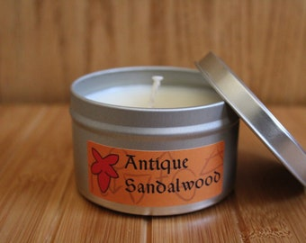 Antique Sandalwood Hand Poured 100% Soy Candle
