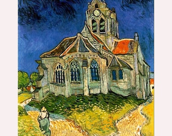 The Church at Auvers -Oil Painting Museum Quality Reproduction