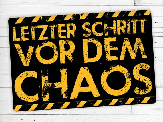 "Floor mat motif ""last step before chaos"""