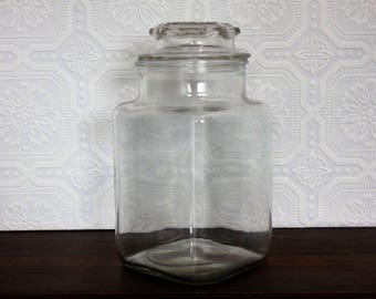 Vintage Glass Candy Jar, Apothecary Jar, General Store Penny Candy Jar,  Kitchen/