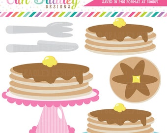 Pancake Party Clipart Clip Art Personal & Commercial Use Instant Download