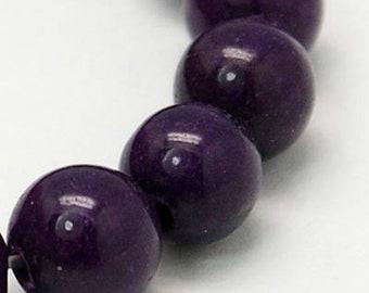 """Purple Mashan Jade Beads 4∼10mm Strand 15.5""""-38cm Purple Candy Jade Purple Mountain Jade Purple Jade Purple Mashan Stone"""