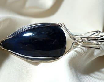 Sodalite Pendant, Sodalite Jewelry, Sodalite Necklace, Brazilian Sodalite, Brazilian Sodalite Pendant, Gemstone Pendant,  BlueStone Sodalite